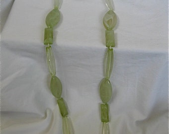 Vintage Green Lucite Necklace