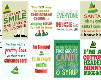 Elf movie, Christmas, Xmas, Stickers, Planner, Quote Boxes, full box, happy planner, erin condren, matte, glossy, =