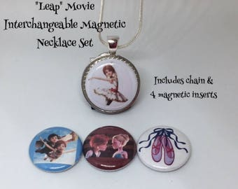 Leap! inspired Interchangeable Magnetic Necklace Set for kids