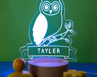 Owl Night Light Personalized