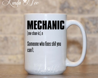 Mechanic Definition Coffee Mug, Funny Diesel Mechanic Mug, Boat Mechanic Present, Auto Mechanic Mug, Definition Mug, Truck Mechanic MSA180