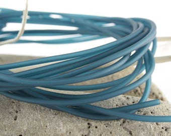 Hollow PVC cord 3 mm color lagoon