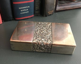 Vintage metal jewelry box