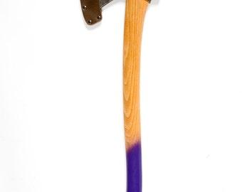 Purple Rain- Hudson Bay Style painted axe