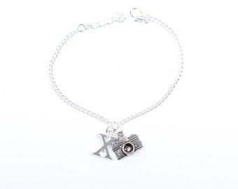 Personalised Photography Bracelet | Camera Bracelet | Camera Jewellery | Photographers Jewellery