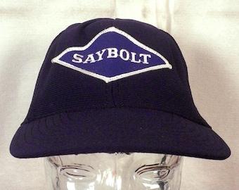 vtg 80s Saybolt Reservoir Optimization Mesh Back Snapback Trucker Hat Cap indie