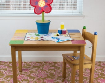 "Splat Mat/Tablecloth ""Earth Tone Taffy"" - Laminated Cotton BPA  & PVC Free - Choose Your Size below!"