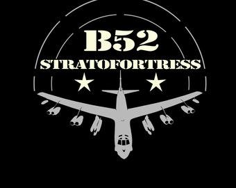 B52 T shirt  Army US bomber t shirt aircraft stratofortress b-52  tee S - 5XL