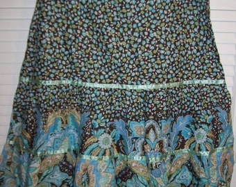 Skirt 6 - 8, Vintage Island Republic Peasant Colorful Cotton Skirt Size 6 - 8