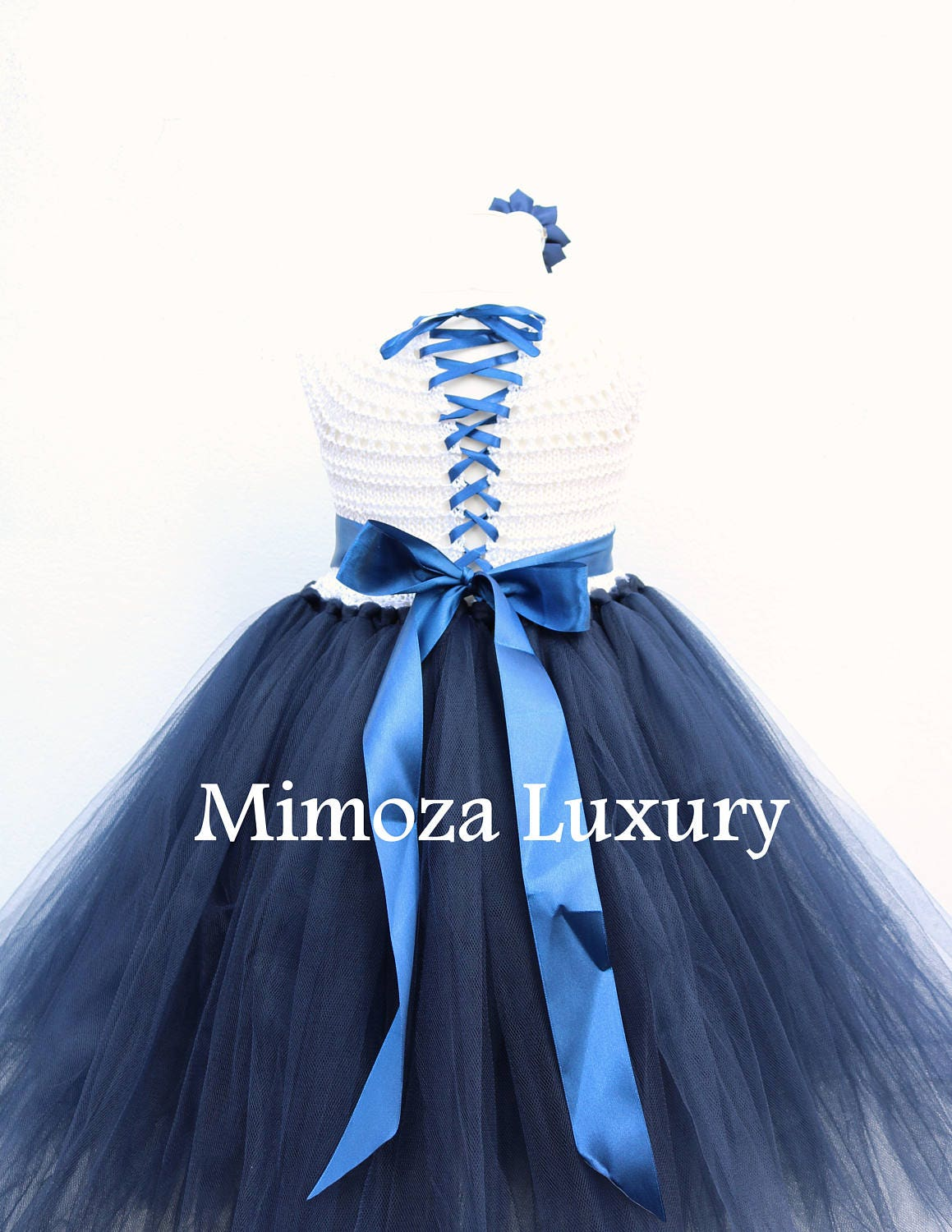 Navy white flower girl dress white and navy tutu dress navy blue navy blue princess dress white navy wedding gallery photo gallery photo izmirmasajfo