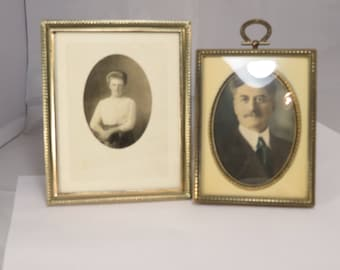 Instant Ancestors! Pair of early 1900's Pictures
