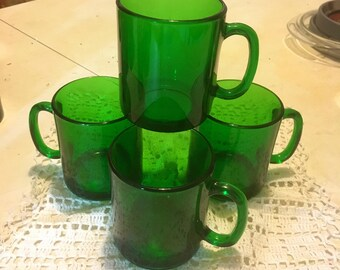 Set of Four Duralex French Coffee Mugs