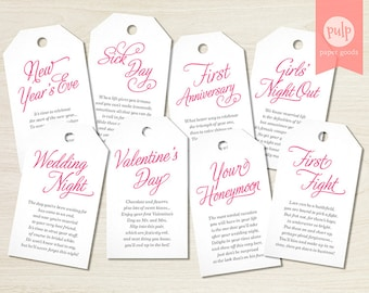 Bachelorette tags etsy digital file printable panty tags with poems lingerie shower or bachelorette party gift set negle Choice Image