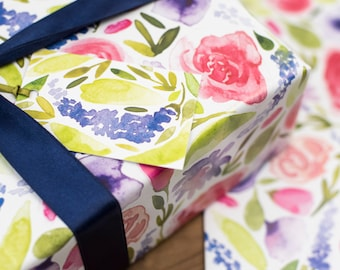 Floral Wrapping Paper - Tropical Leaves paper - Birthday Wrapping Paper - Wedding Wrapping Paper - Decoupage, scrap booking