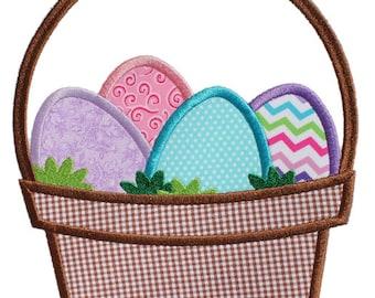 Easter Basket - Digital Appliqué Embroidery Design (109)