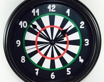 Unique DART BOARD Novelty Wall Clock