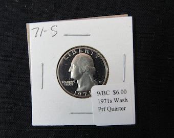Vintage Coin 1971s Washington Quarter Proof MS65 - Collectible Clad Uncirculated Quarter