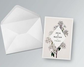 Wedding card to print out. Vintage | PDF