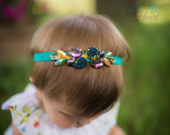 Fashion Headband - Rhinestone Headband - Flower Girl Headband - Headbands for Teens - Headbands for Girls - Headbands for Women - Rhinestone