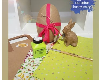 Decopatch egg with surprise bunny