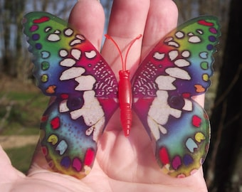 1 Butterfly decor, colorful magnetic fridge Decor. N1