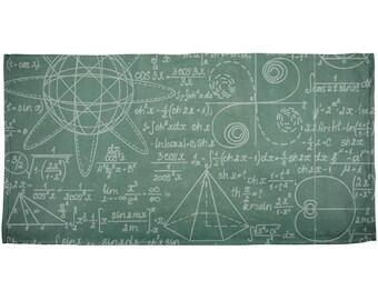 Math Geek Formulas All Over Beach Towel