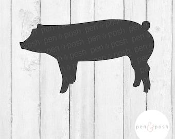 Pig SVG - Show Pig SVG - Show Pig Clipart - Show Pig Cut File - Pig SVG File - Show Pig   - Show Pig Decal Cut File - Show Pig