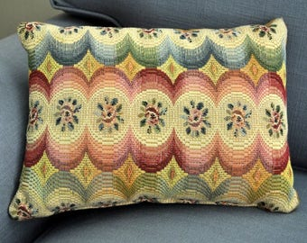 Woven accent pillow, small accent pillow