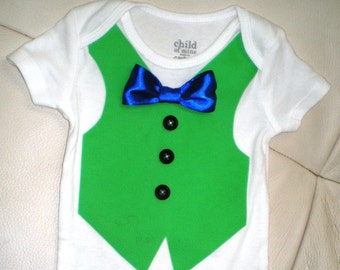 Baby Boy Outfit, Bow with Vest & Leg Warmers Outfit, Vest and Tie Onesie Set, Christmas Baby Boy Outfit
