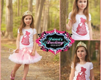 I'm a Disney Princess - princess tee - personalized shirt - vinyl shirt - toddler shirt - custom vinyl tee - trendy kids clothing
