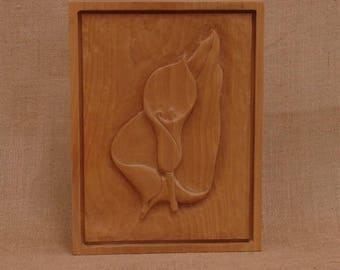 Lily and Leaf Carving