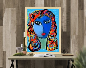 Bohemian art to be yourself / limited edition digital painting