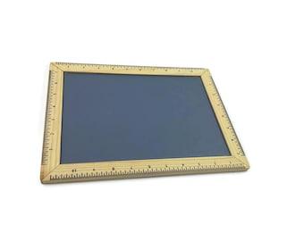 Tableau noir pour craie avec cadre en bois - modèle écolier
