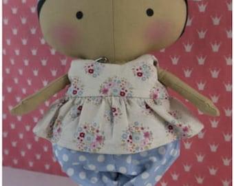 Branded Doll-doll-handmade-doll textile-Rag doll-collection dolls-brand-girls-room decor-gift-Birthday