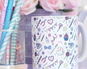 Craft Pattern Mug - Those Who Make Collection - Gift for Crafters