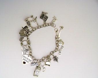 Grey's Anatomy Themed Charm Bracelet, Doctors on TV,  Grey's Anatomy Jewelry, TV show themed, Crazy about Grey's, Meredith Grey, Hospital