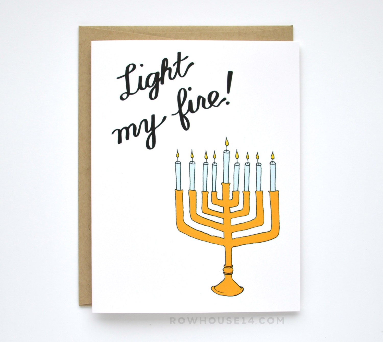Sale Funny Hanukkah Card Sexy Hanukkah Card Light My