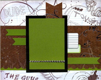Dude - The Guys - Premade Scrapbook Page