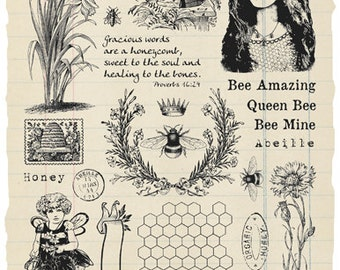 Bee Happy Rubber Stamp Collection