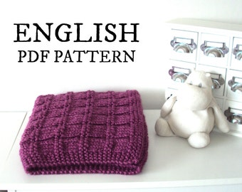 Easy KNITTING PATTERN Baby Blanket, Easy Baby Blanket knitting pattern, beginner knitting blanket, Instant download