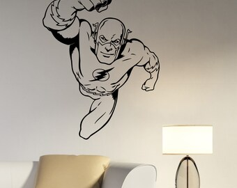 Flash Wall Decal Vinyl Sticker Marvel Comics Superhero Art Decorations for Home Living Room Bedroom Kids Boys Room Decor flh3