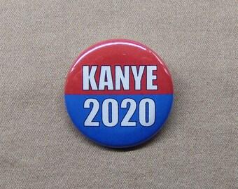 """Kanye 2020 1.25"""" Button Kanye West Rapper President Vote Election Campaign Kim Kardashian"""