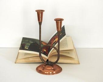 Mod Copper Candle Holder