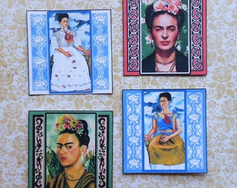 Extra Large Frida STICKERS with frames- Beautiful Frida designs Frida Kahlo paintings Frida paintings images art stickers