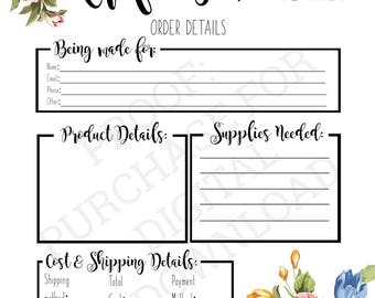 Crafting Business Planner - Order Planner, Cricut, Silhouette, Cameo, Crafts, Printables, Instant Download, PDF, Business, Personal
