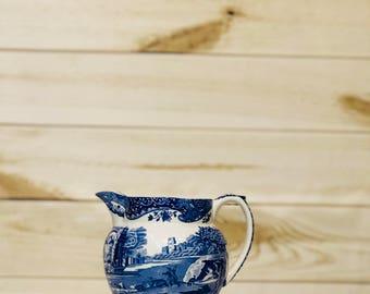 Spode Creamer Blue and White Italian Design Circa 1816