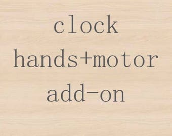 Add-On Clock Hands & Motor-for Joanna Clock only