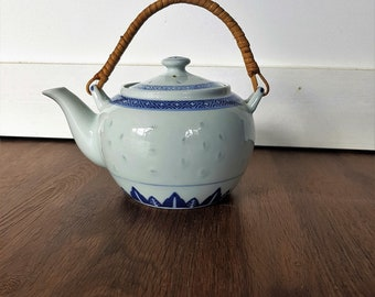old Chinese porcelain teapot
