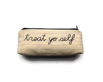 Treat Yo Self - Case Pack of 10 - Wholesale - Self Care - Spa Day Money Bag - Handmade Makeup Bag Cosmetics Case - Mom Dad Grad - New Mom