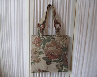 Market Bag Tote Bag Book Bag Vintage tapestry Tote Bag Handbag